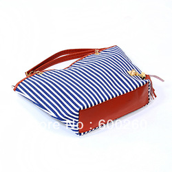 holiday sale bags Handbags fashion women Stripe Street Snap Candid Tote Canvas Shoulder Bag drop shipping 5361(China (Mainland))