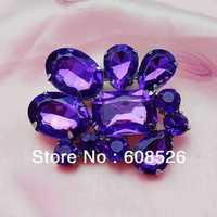 free shipping 1 piece luxury noble full rhinestone crystal flower brooch glass stone new fashion style,  Item No.: BH7116