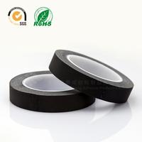 Free shipping High temperature acetate black cloth tape high temperature insulating  white viscose 20mmx30m