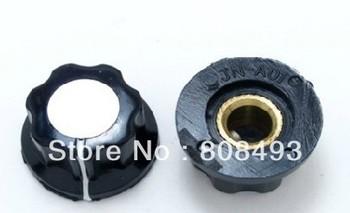 Knob For Standard Pots Black D 20mm H 12mm Hole 6mm