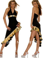 New Free shipping Sexy women backless dress halloween costumes sexy club dress HS957