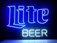 Vintage Miller Lite Logo Beer Bar Pub Store Garage Neon Light Sign Handcrafted Free Shipping 17*13