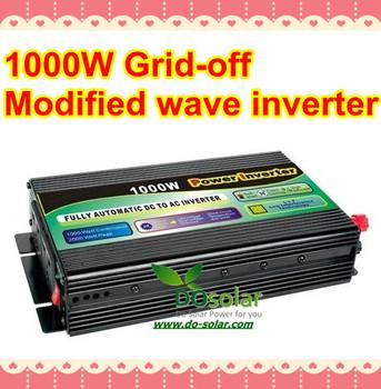 1000W off grid inverter, 1KW modified inverter, DC 12V 24V to AC 220V for solar power system, wind turbine generator