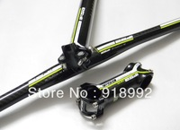 FSK-Force full carbon fibre bike Bicycle MTB Handlebar seatpost stem bike parts Green