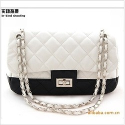 Free shipping 2013 fashion leisure shoes chain handbag online top - shot female bag(China (Mainland))