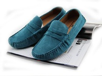free shipping New Men's England Gommino Casual Suede Flats Shoes Driving shoes Slip On Loafers SB048-1
