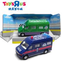Green alloy mail car blue police car model 231045