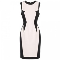 [ANYTIME] Fashion women's 2013 three-dimensional geometry patchwork brief elegant slim formal dress one-piece dress