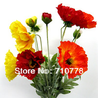 10PCS Poppy real touch flower high artificial flowers plastic fake flower home decoration