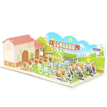 Free shipping(3 pieces/lot)  New fancy Intelligent educational toy safety 3D puzzle DIY handmade baby paper assembling model