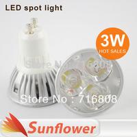 10pcs/lot High Power led spotlight MR16 E27 GU10 3w AC110V-220V lamps for indoor lighting Warm white / Cool White Free Shipping