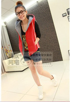 All-match cotton hooded cotton small vest 8090