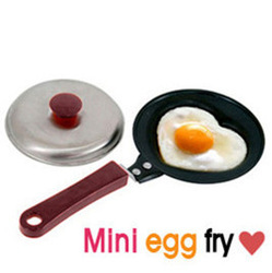 Free shipping 2pcs/lot,Mini Lovely Heart Shaped Egg Fry Frying Pan Cook pan Non-Stick have Pot Lids(China (Mainland))