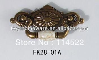 Antique crackled door handles and knobs/ drawer pulls/ furniture hardware FK28-01A
