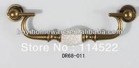 Antique brass door handles and knobs/ drawer pulls/ furniture hardware DR68-011