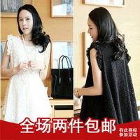 2013 princess summer maternity clothing lace sleeveless one-piece dress fashion lace maternity dress