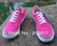 Hot!Pink canvas shoes. Fashion casual sports shoes.Free shipping. Size :36-40