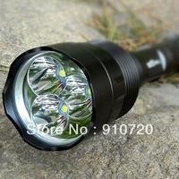 1PC Trustfire 3T6 Flashlight 5 Mode 3800 Lm 3 * CREE XM-L XML T6 LED Flashlight High Power Torch + Extended Tube + Mail Free