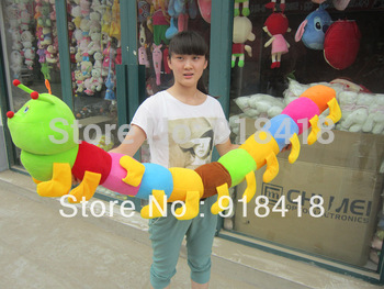 "Fee shipping 50cm/20"" Colorful caterpillars millennium bug doll plush toys large caterpillar hold pillow doll"