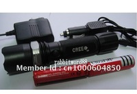 ZOOMABLE 7W CREE Q5 LED 500 Lm Rechargeable 18650 Flashlight Torch Zoom Lamp Light Car Charger 3000mAh battery free shipping
