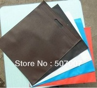 Free shipping 500pcs middle size non woven shopping bags with your customised logo or design