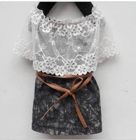 2013Summer children's clothing girls denim dress vest dress princess dress children summer