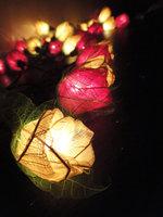 35 Mix White Red Rose Flower Fairy String Lights 3.5m