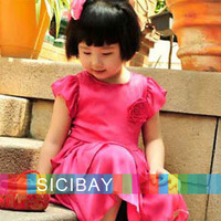 Free Shipping Girls Princess Dress Kids Flower Dress Tiered Dress Formal Dress K0134
