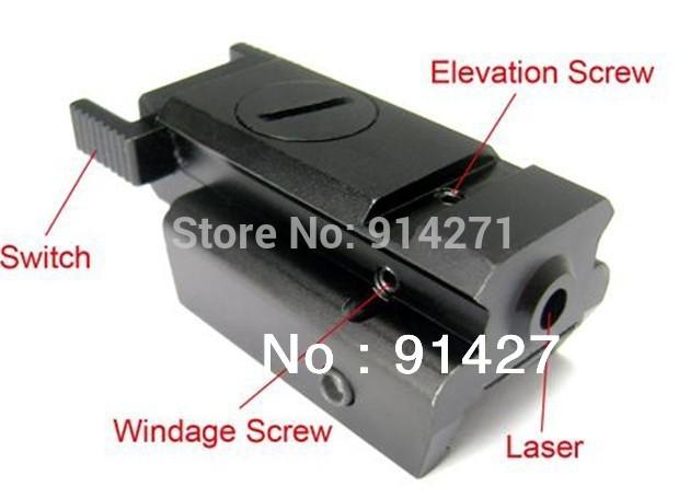 2013 BM101 Mini Pistol Low Profile Compact Red Laser Sight Weaver/Picatinny Rail(China (Mainland))