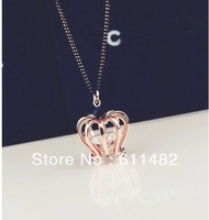 Min.order is $10(mix order) 1pcs/lot Crown  queen Hao stone long sweater chain crystal necklace  free shipping