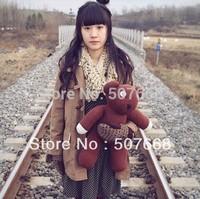 Wholesale 35cm Mr Bean Teddy Bear Animal Stuffed Plush Toy Brown Figure Doll 30pcs/Lot Child Xmas Gift EMS Free Shipping