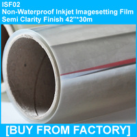 "180g Non Waterproof Inkjet Imagesetting Film Semi-clarity 42""*30m"