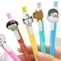 Free Shipping Kawaii cartoon  Ballpoint Pen School Supplies Office Stationery  Plastic Ball Pen