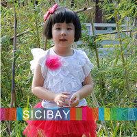 Summer Tops for Girls Sweet Wear,Flower Tshirts,Kids Summer Wear,Free Shipping  K0150