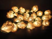 35  White  Rose Flower Fairy String Lights 3.5m