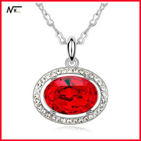 Free Shipping MT13040416 Rose Crystal Fashion New Pendant With Circles