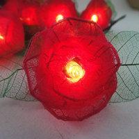 35  red  Rose Flower Fairy String Lights 3.5m