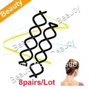 8pairs/Lot New Spiral Screw Hair Pin Curly Twist Barrette  4946