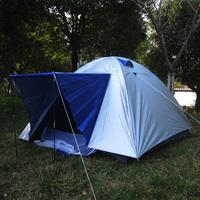 Double layer 029 3 - 4 belt outdoor waterproof tent double window camping tent