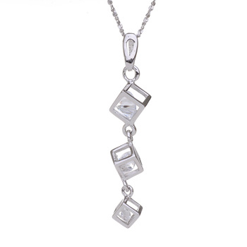 925 pure silver hearts and arrows cubic zircon wishing box pendant necklace female pendant