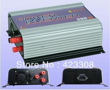 wind grid tie inverter 500W  pure sine wave 10.8 - 30VDC/22 - 60VDC input, 90 - 130VAC/190 - 260VAC Output