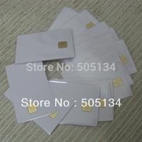 200pcs/lot Wholesale Bulk White Blank PVC Inkjet Contact IC Smart Card With SLE 4428 Chip For Inkjet Printer