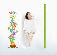 2013 new design removable vinyl english letters height scale  wall sticker 50*70cm for kid room free shipping