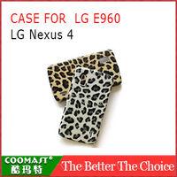 Leopard PC Case For LG E960 Nexus 4 New Arrivel mobile phone Dirt-resistant case