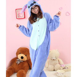 Free Shipping Kigurumi Pajamas Animal suits Cosplay Costume Adult Garment Coral Fleece Stitch Cartoon Animal Sleepwears(China (Mainland))