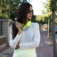 Fashion Accessories Neon Color Full  Short Design Necklace vintage necklace statement beads brand jewelry BL2005
