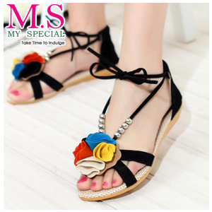 Cheap Dress Shoes on Free Shipping 2013 New Arrival Fashion Sweaty Women Flat Sandals With