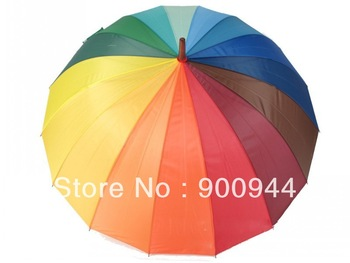 Wholesale free shipping fashion sweet rainbow brand compact totes Anti-uv Sun rain umbrella multi color   30pcs/lot