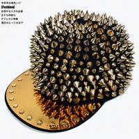 Free shipping, WOMEN's/MEN's baseball cap hat hip hop cap, Hedgehog Punk HIP-HOP Unisex Hat Gold Spikes Spiky Studded Rivet Cap