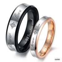 Lovers' Couple Rings Forever Love Wedding 2014 His And Hers Promise Heart Ring Crystal Set anelli di fidanzamento Engagement